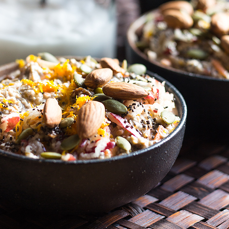 Nourishing carrot cake overnight oats