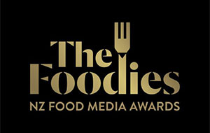 The Foodies: NZ Food Media Awards 2019 logo.